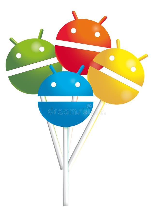 Леденцы на палочке андроида иллюстрация штока