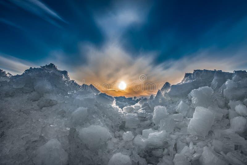 Лед зимы стоковые изображения rf