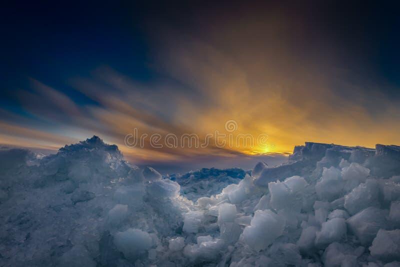 Лед зимы стоковое фото rf