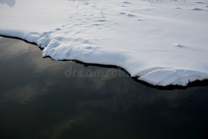 Лед и вода границы стоковые изображения rf