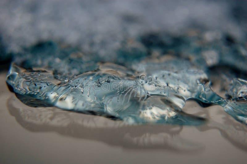 Лед на стекле стоковое фото rf