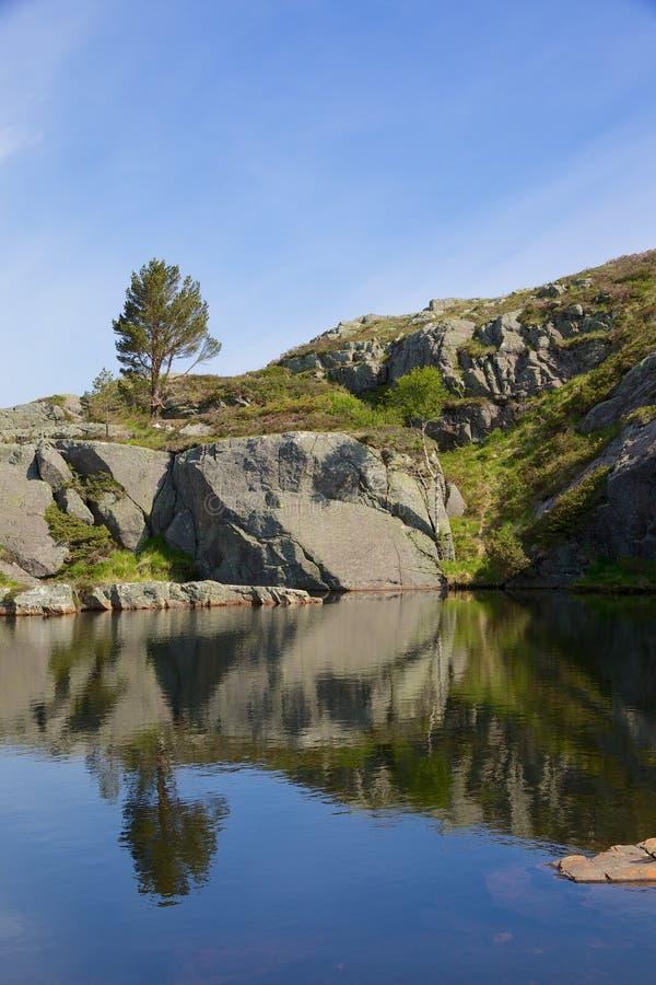 Ледниковое озеро 09 Preikestolen стоковые изображения rf