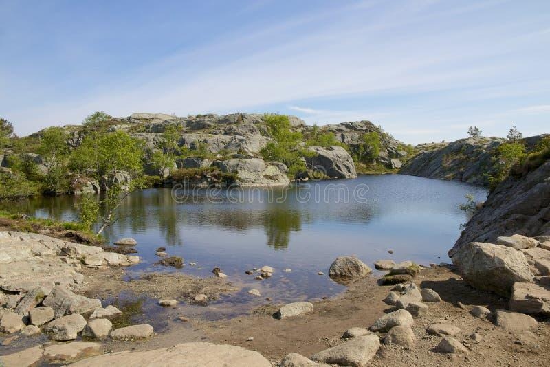 Ледниковое озеро 13 Preikestolen стоковые фото