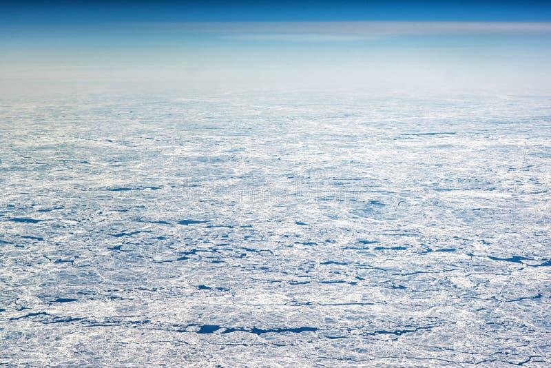 Ледниковые щиты как увидено от большой возвышенности стоковая фотография rf