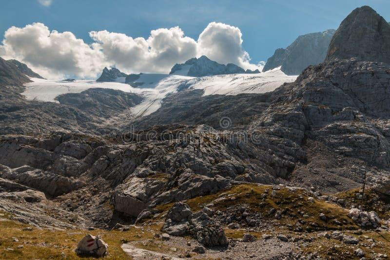 Ледник Hallstatt в Hoher Dachstein Альпах, Австрии стоковое изображение rf
