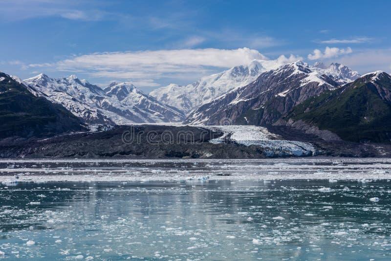 Ледник Hubbard и плавая лед стоковое изображение
