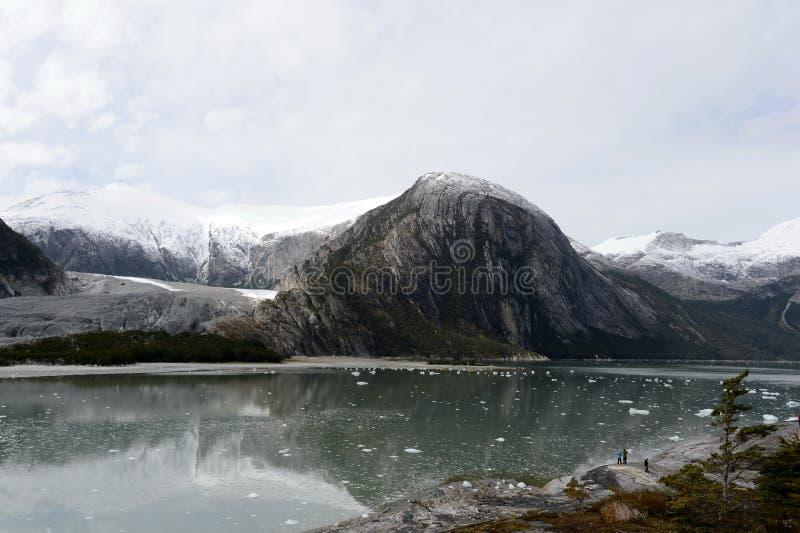 Ледник Pia фьорда архипелага Огненной Земли стоковая фотография rf