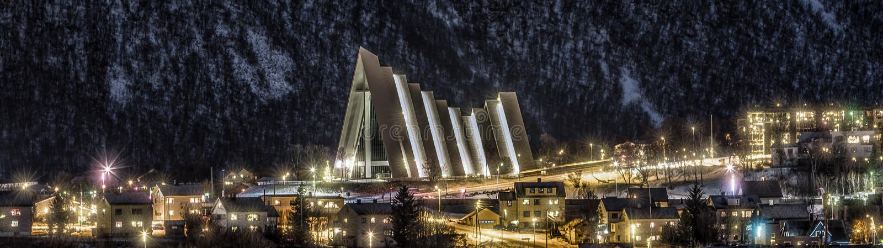 Ледовитый собор, Tromso стоковые фото