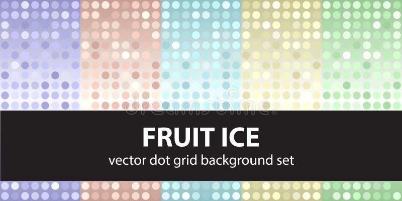 Лед плодоовощ точечного растра польки установленный бесплатная иллюстрация