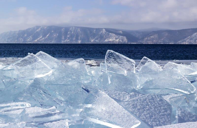Лед-смещение на Lake Baikal стоковые изображения rf