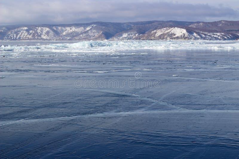Лед-смещение на Lake Baikal стоковое фото rf