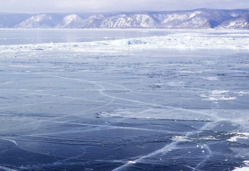 Лед-смещение на Lake Baikal стоковые фото