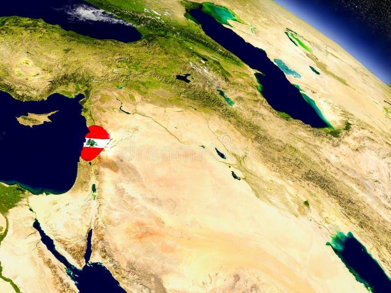 Download Ливан с врезанным флагом на земле Иллюстрация штока - иллюстрации насчитывающей символ, глобус: 81807504
