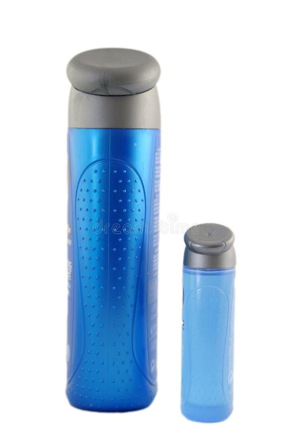 ливень геля бутылки стоковые изображения