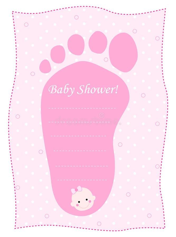 ливень девушок карточки младенца иллюстрация штока