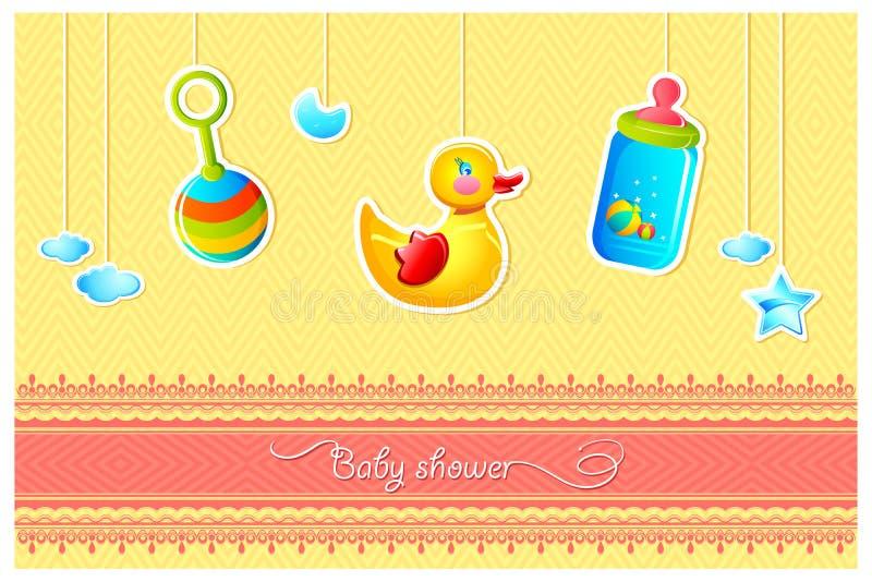 ливень карточки младенца иллюстрация вектора