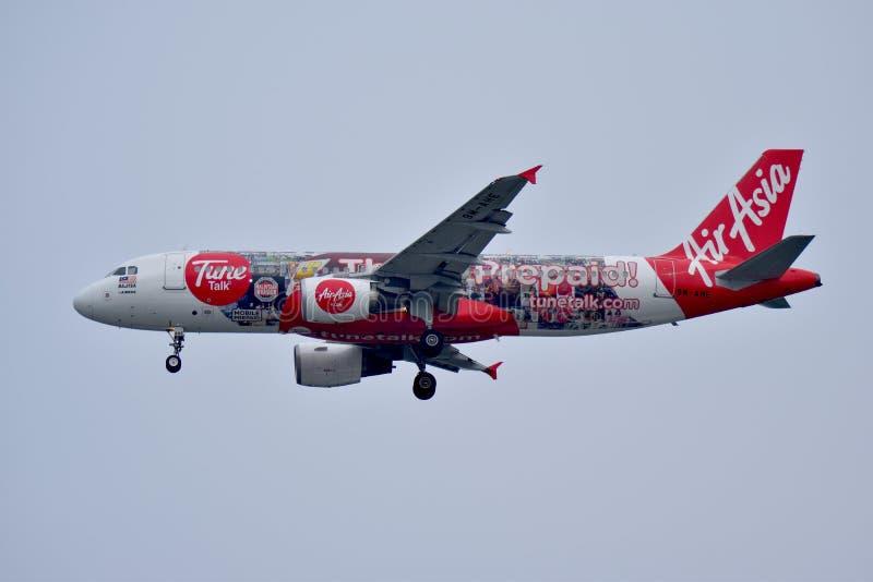 Ливрея Air Asia TuneTalk стоковые фото