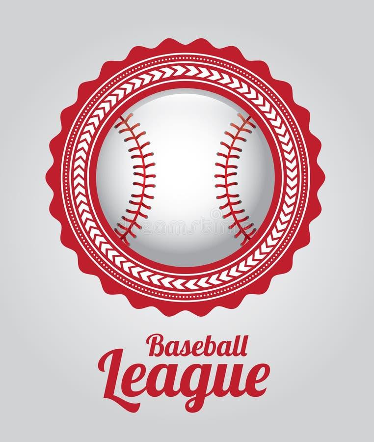 Лига бейсбола иллюстрация вектора
