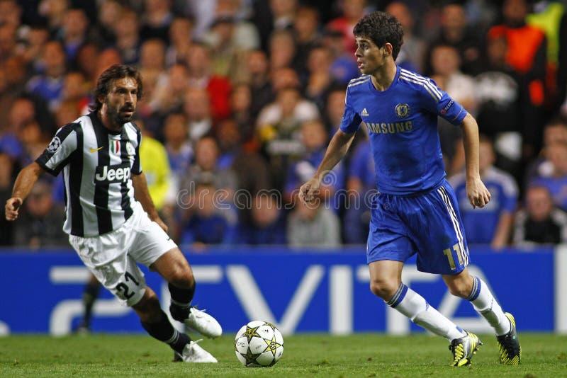 Лига чемпионов UEFA Челси футбола v Juventus стоковые изображения rf