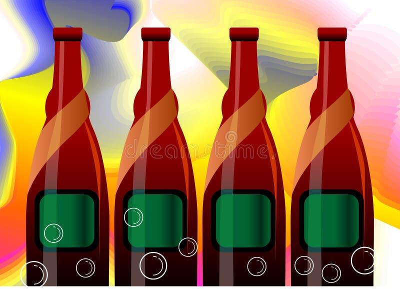 ликвор бутылки иллюстрация вектора