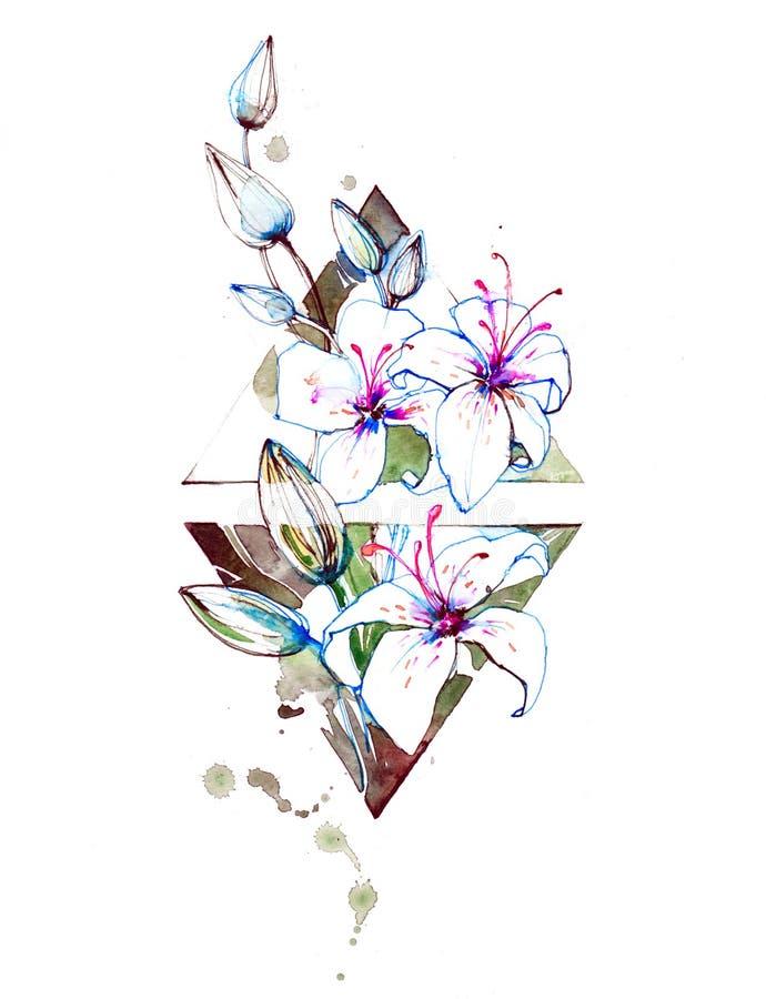 лилии иллюстрация штока