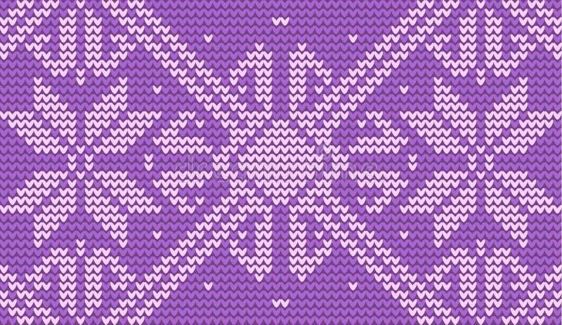 Лиловой предпосылка связанная снежинкой иллюстрация штока