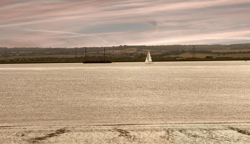 Лиман Великобритания Темзы реки стоковые фотографии rf