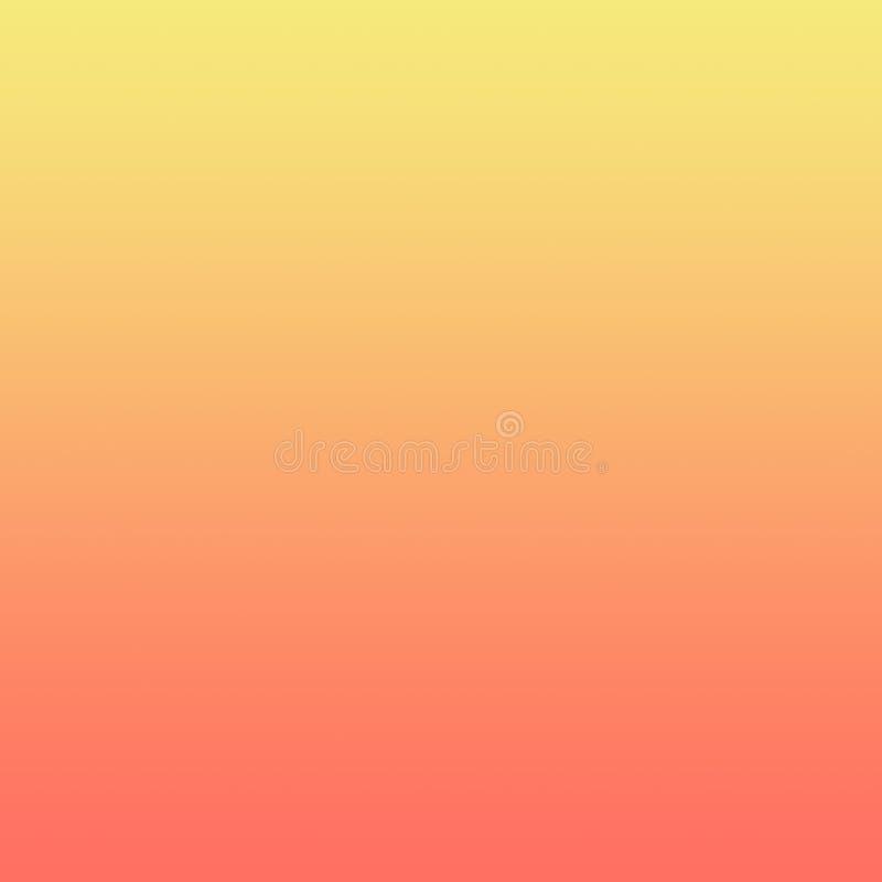 Лимонножелтая предпосылка Ombre градиента коралла бесплатная иллюстрация