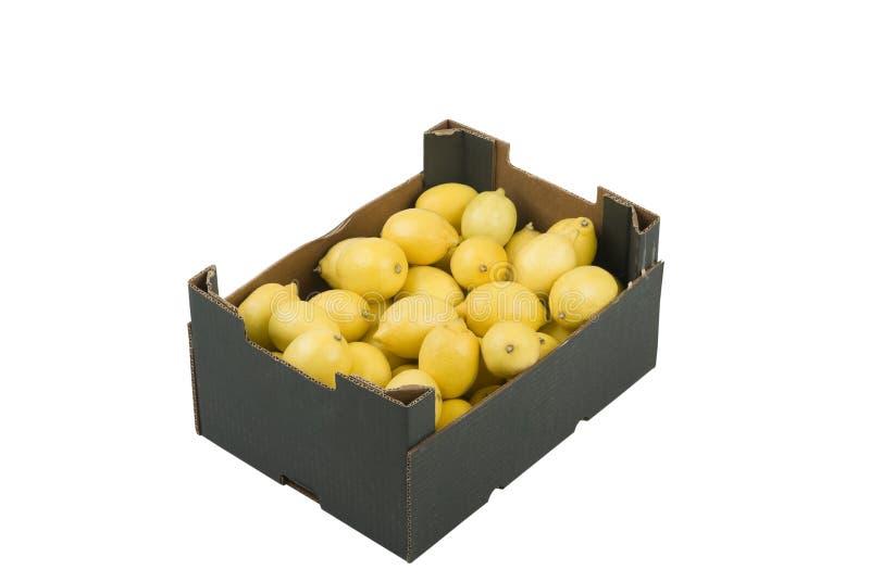 лимоны коробки стоковое фото