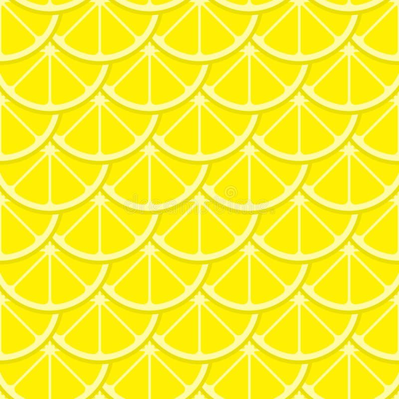 Лимон вектора яркий отрезает безшовную картину иллюстрация вектора