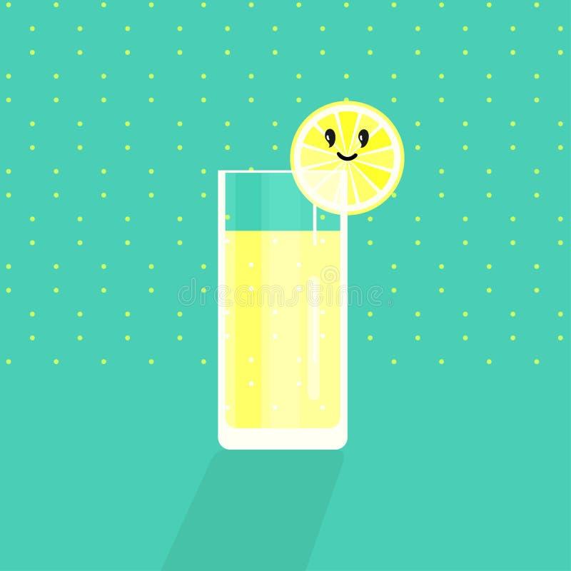 Лимон, известка, оранжевые куски на предпосылке бирюзы Жизнерадостный усмехаясь цитрус o r иллюстрация штока
