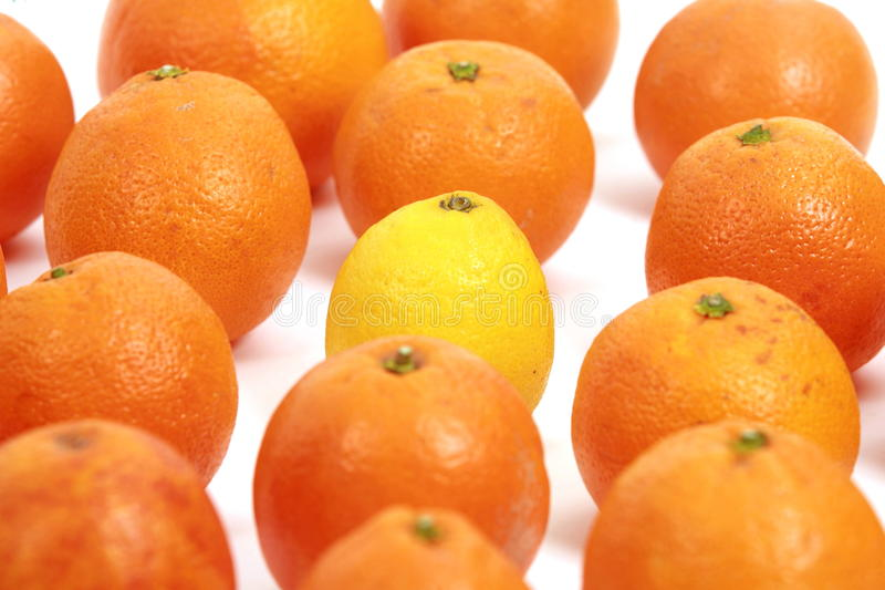 Лимон и апельсины стоковое изображение rf