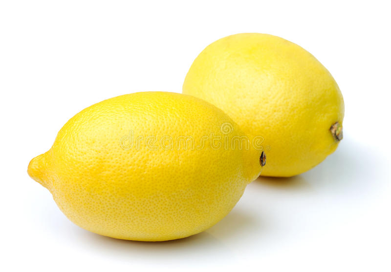 Лимон на белой предпосылке стоковые изображения