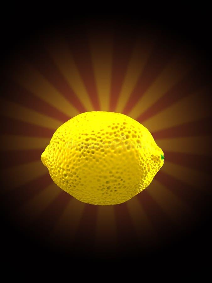 Лимон на предпосылке лучей иллюстрация штока