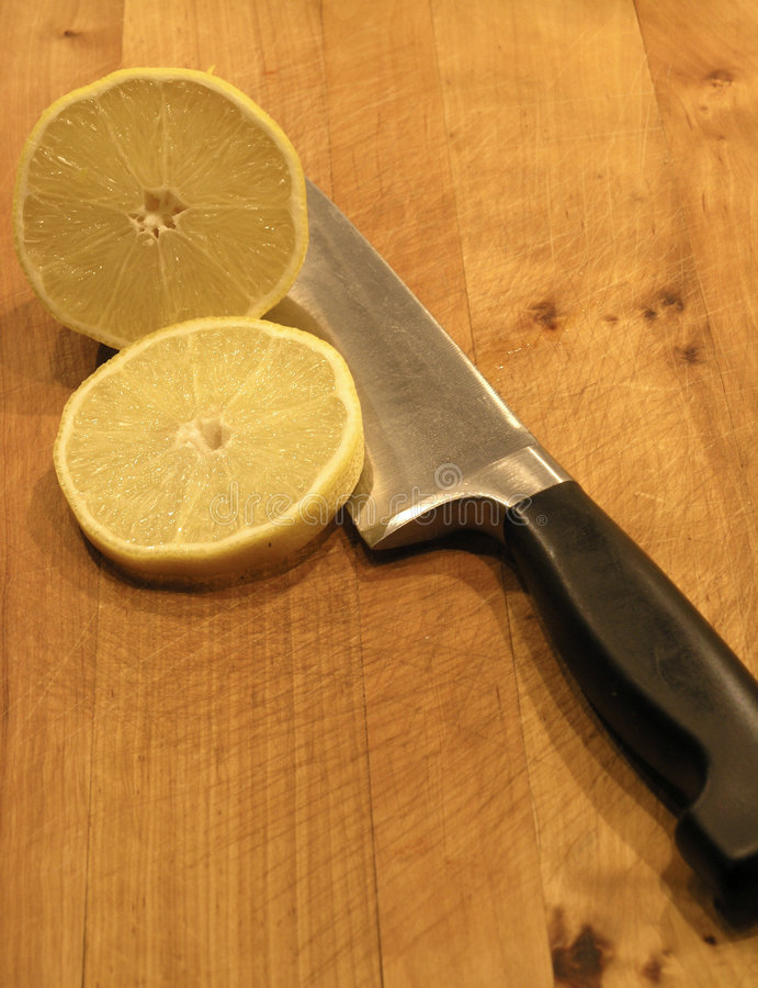 лимон ножа Стоковая Фотография RF