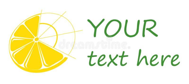 Лимон логотипа, цитрус логотипа, логотипы дела. иллюстрация вектора