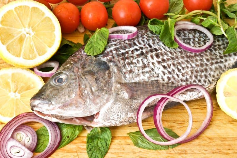 лимон рыб вишни свежий стоковые фото