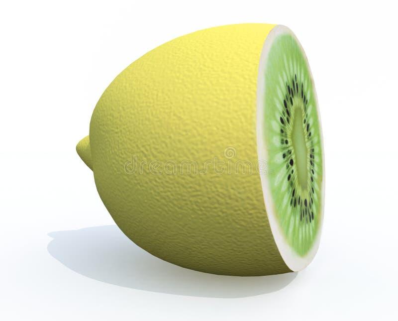 Лимон cutted с кивиом внутрь бесплатная иллюстрация