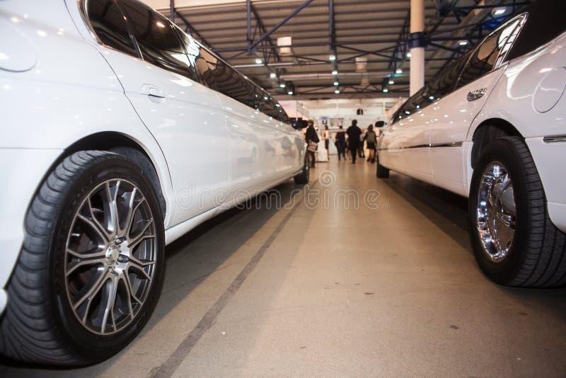Лимузин свадьбы стоковые фотографии rf