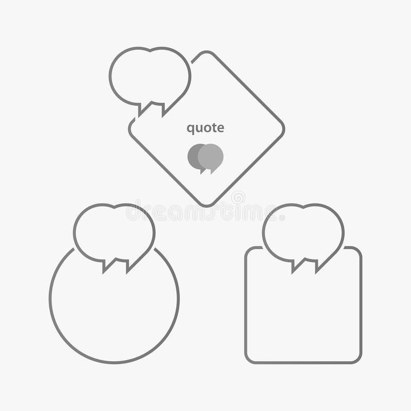Линейная цитата иллюстрация штока
