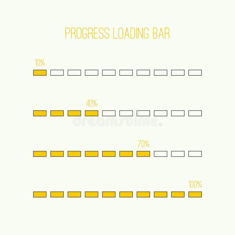 Линейный бар затяжелителя иллюстрация штока