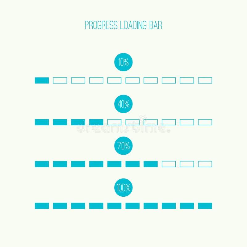 Линейный бар затяжелителя иллюстрация вектора