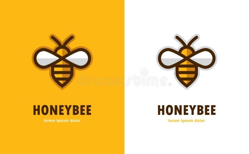 Линейный значок пчелы иллюстрация штока
