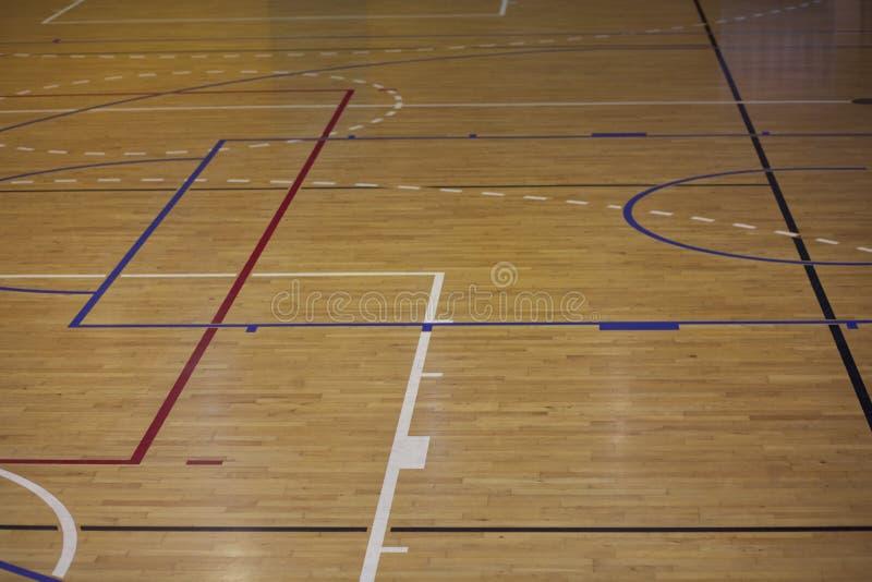 Линии баскетбольной площадки стоковое фото
