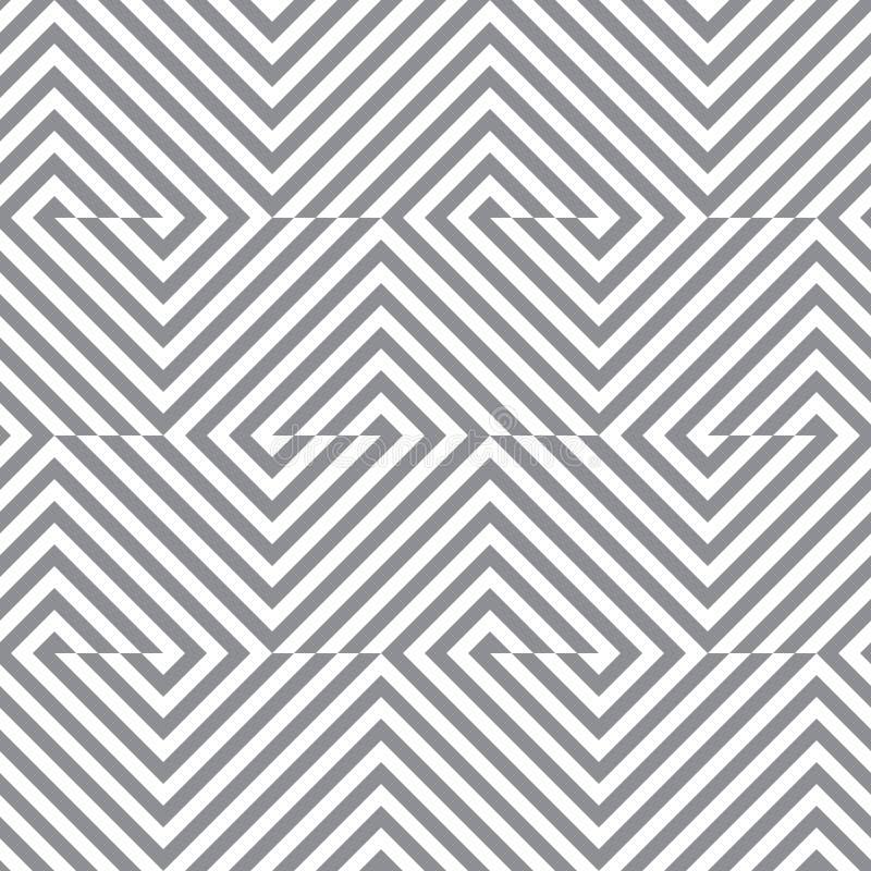 Линии безшовная картина вектора геометрические Современная monochrome текстура с нашивками иллюстрация штока