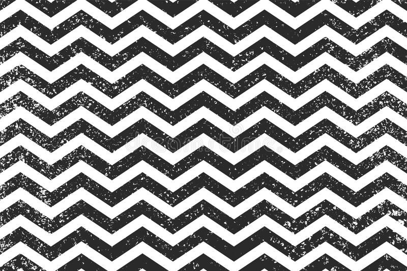 Линии безшовная картина зигзага черные Предпосылка Grunge иллюстрации вектора нашивки зигзага геометрической иллюстрация штока