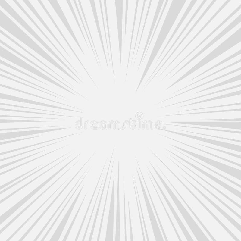 Линии влияния скорости комиксов радиальные графика вектор иллюстрация штока
