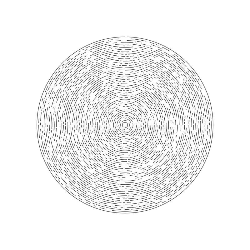 Линии в форме круга Футуристический круг r : бесплатная иллюстрация