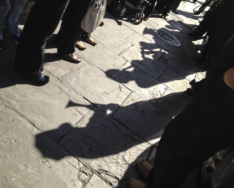 Линии джаза похоронные вверх в Новом Орлеане стоковое изображение rf