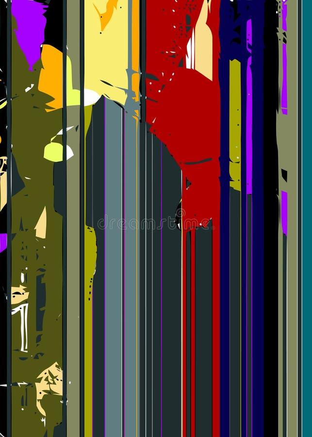 Линии и предпосылка пятен красочная абстрактная иллюстрация штока